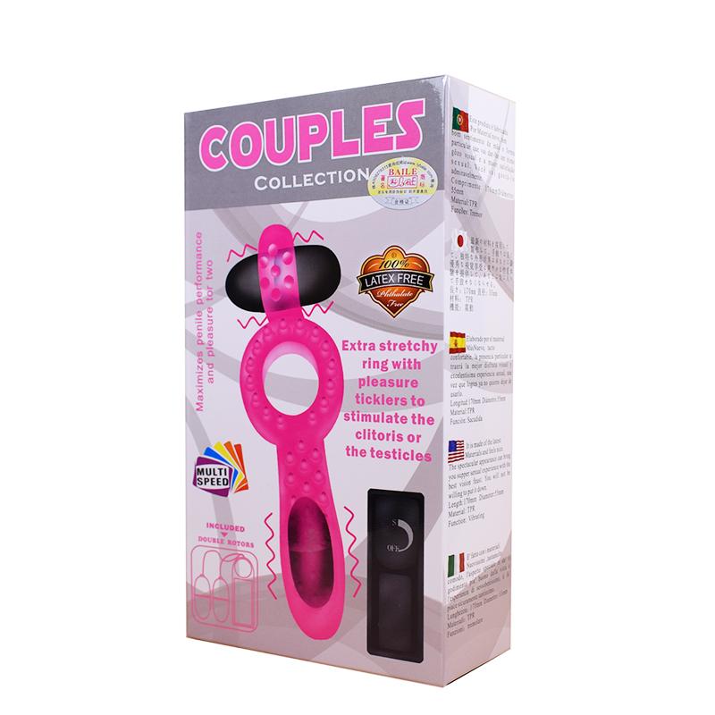 Couples Alat Sex Vibrator Ring Penis Silikon