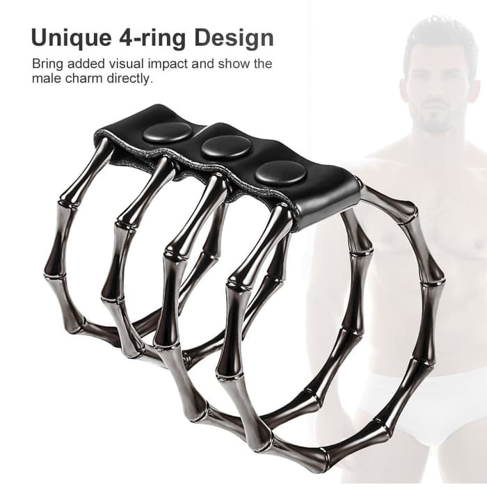 4 in 1 metal ring unique design for man